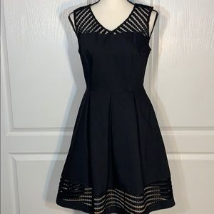 Charming Charlie's sleeveless v neck black dress